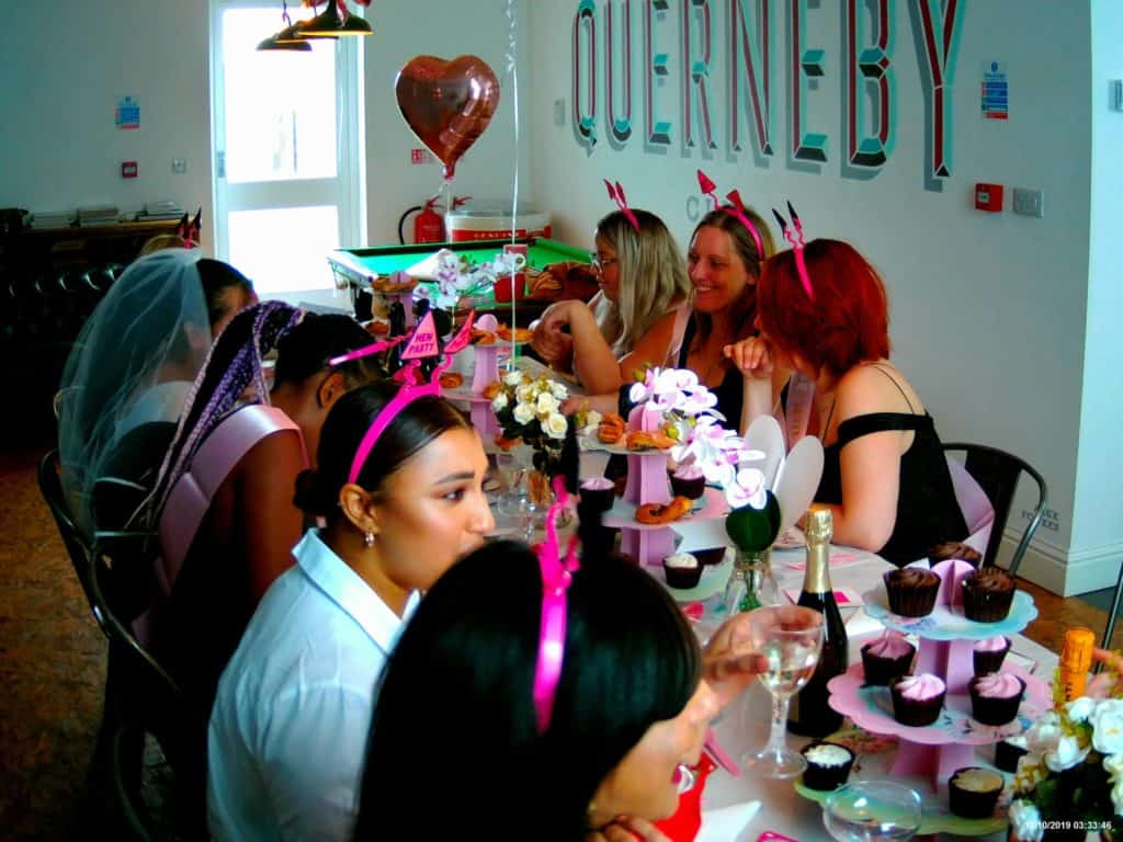 hen party guests at a hen party weekend