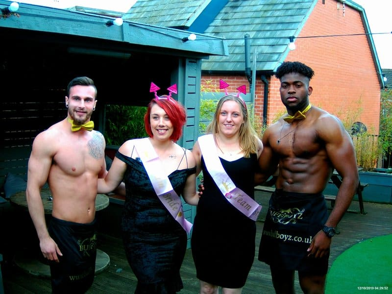 Buff butlers at hen party